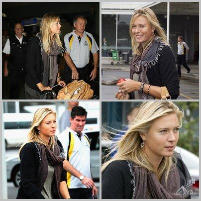 Maria est arrivée a Auckland :