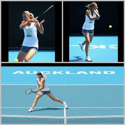 Maria s'entraîne à Auckland :