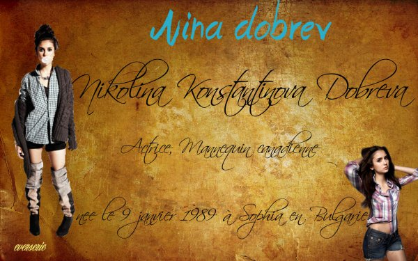 Acteur: Nina Dobrev