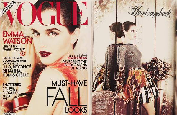 Emma Watson en couverture du US VOGUE magazine! + des articles concernant sa vie après Harry Potter! -alléchant!-