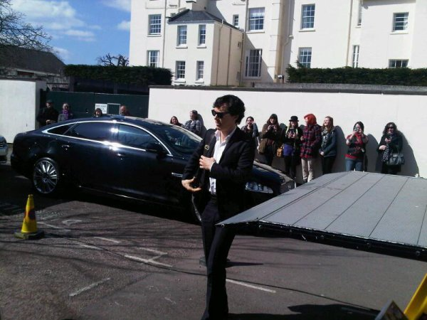 Nouvelles photos de Benedict pour le tournage de Sherlock !