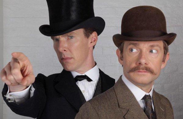 Sherlock et John en mode vintage pour l'épisode spécial de janvier !