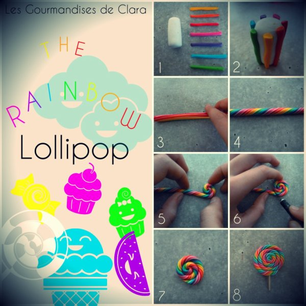 Tuto fimo ! - The rainbow lollipop -
