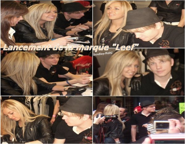 """Stéphanie au lancement de la marque """"Leef"""" le 12/03/2011 avec Bastien, Charlotte et Vanessa !"""