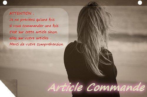 Article Commande