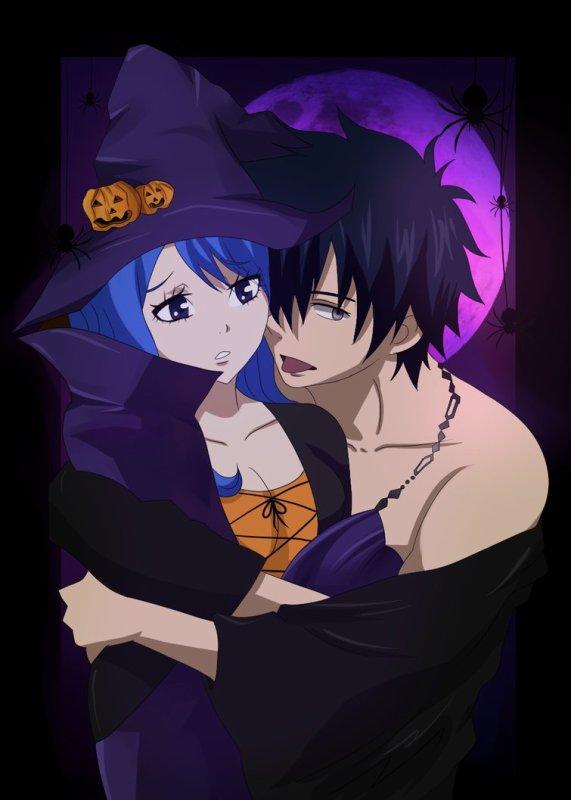 halloween fête des mort avec Fairy Tail