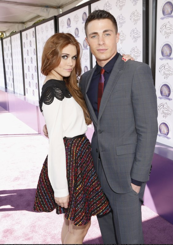 "Holland Roden & Colton Haynes au "" The Breeders' Cup World Championships"""
