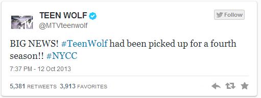 Teen Wolf un saison 4 ??