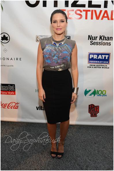 29.09 Sophia Bush au Global Citizen Festival à Central Park pour la fin de l'extrême pauvreté en VIP Lounge (NYC)