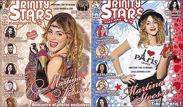 Tini fait la couverture de 2 nouveaux numéro de Trinity Stars.