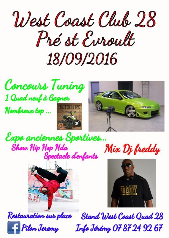 West Coast Quad 28 Show tuning le 18/09/2016