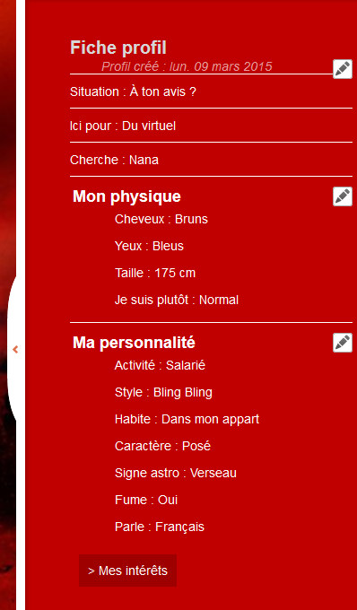 Configuration du profil