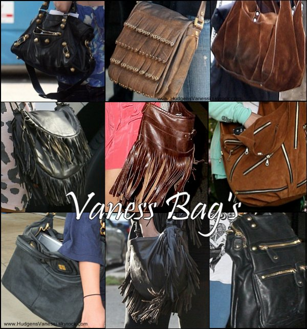 Vaness Bag's HUDGENSVANESSI.SKYBLOG.COM  Une Partie (car elle doit en avoir plus d'un cinquantaines) des sacs de Miss Hudgens ! Lequel préfères-tu ?      Ton avis ?