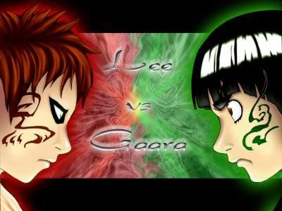 Gaara et Rock Lee