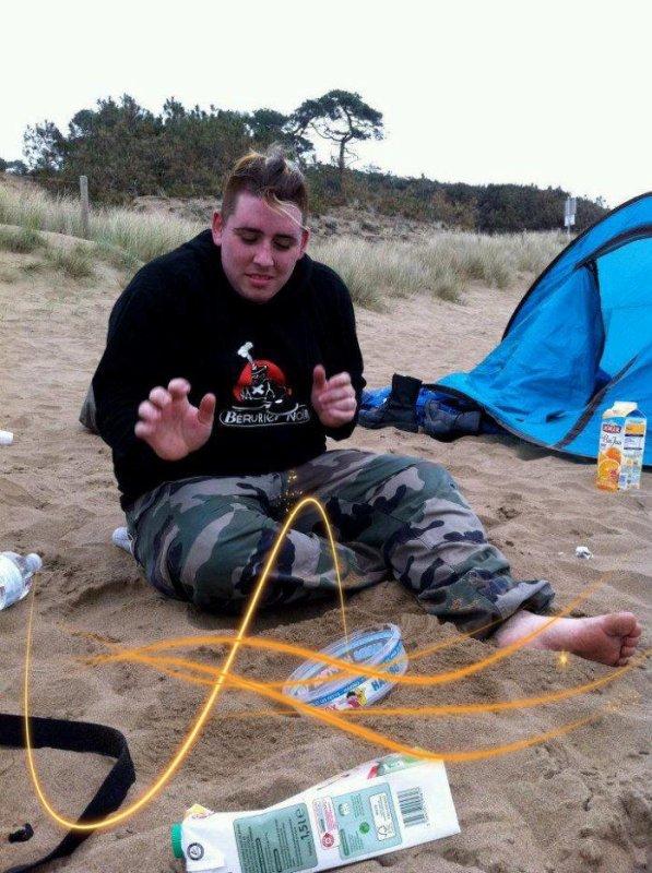 soiré a la plage avec mes potes haha trop cool
