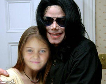 ma fille avec son idol