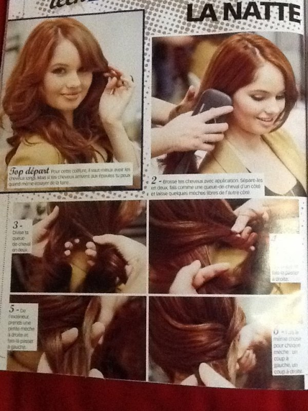 Comment faire la natte de Debby Ryan <3? (Si vous ne voyez pas très bien,vous pouvez voir dans le magasine [Closer Teen N°1] #Clara.L