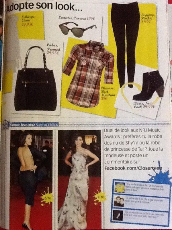Coup de Coeur pour le Week-End! [voir dans le magasine Closer Teen]#Clara.L