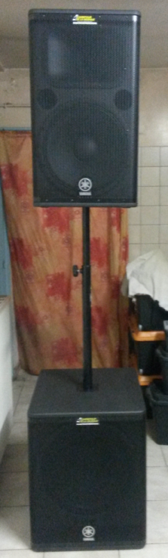yamaha drs 115 ( 1300 watt) et caisson yamaha dsr 118 ( 800 watt )