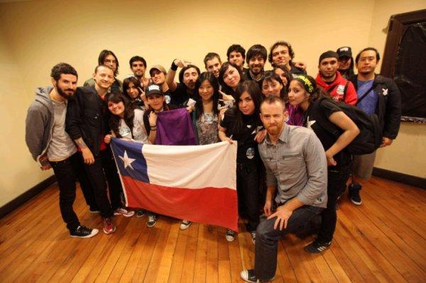 Concert  à Santiago le 09/10