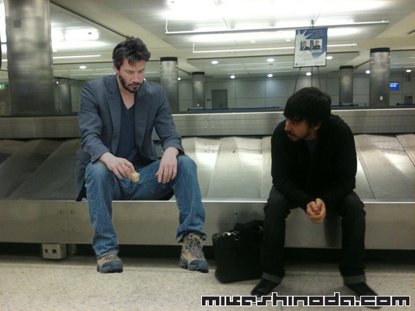 LP & Keanu (Reeves) triste par Mike ^^