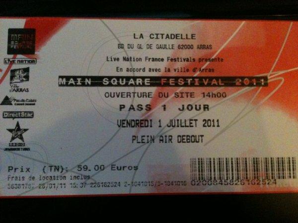 Les places pour Main Square Festival sont maintenant disponible =)