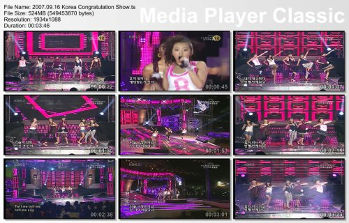 2007.09.16 Wonder Girls - Tell Me @ Korea Congratulation Show