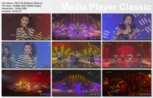 2007.09.28 Wonder Girls - Tell Me @ Music Bank
