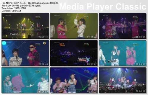 2007.10.05 Wonder Girls & Big Bang - Tell Me & Lies @ Music Bank
