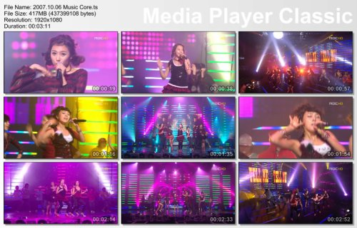 2007.10.06 Wonder Girls - Tell Me @ Music Core