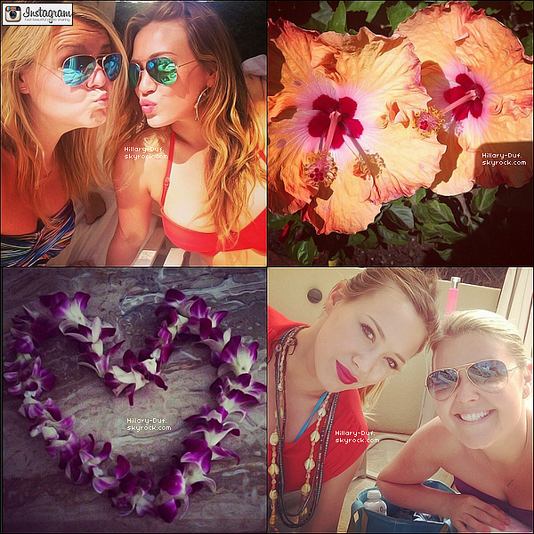 Découvrez des photos instagram de Hillary Duff qui est en vacances à Hawaii.