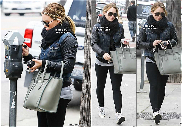 06/03/13 Hilary et Luca  se rendaient au Baby First Class dans Sherman Oaks.
