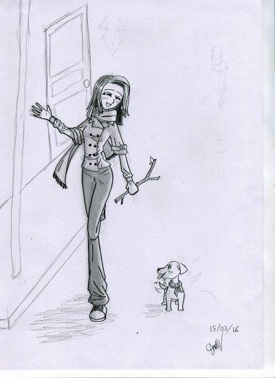 En promenade avec son Chien =3