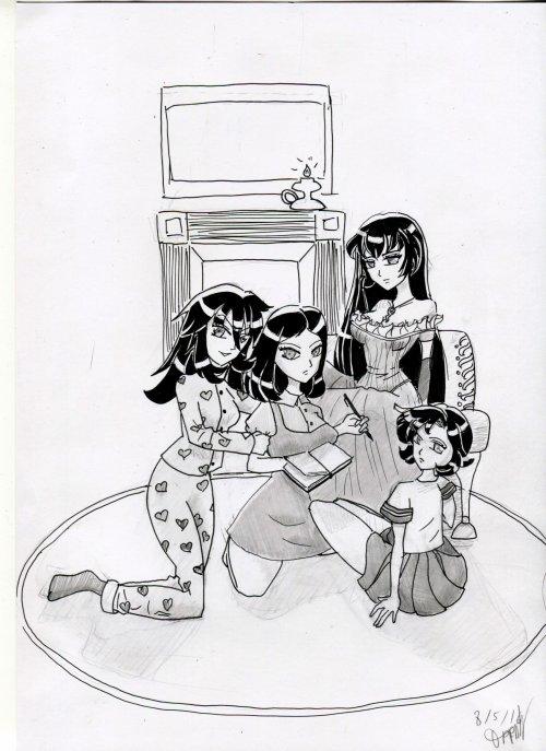 4 soeurs avec un death note