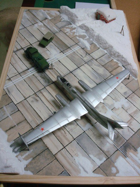 Diorama du Yakovlev Yak 25 Mandrake