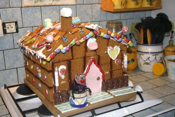 Ma maison d'Hansel et Gretel en pain d'épices