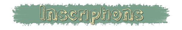 Inscriptions • Catégorie sources