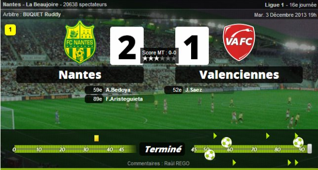 • Lille assassine Marseille; Nantes coule Valenciennes !
