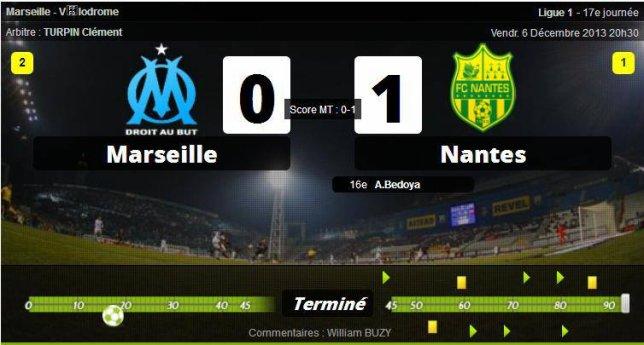 • Nantes surprend Marseille !