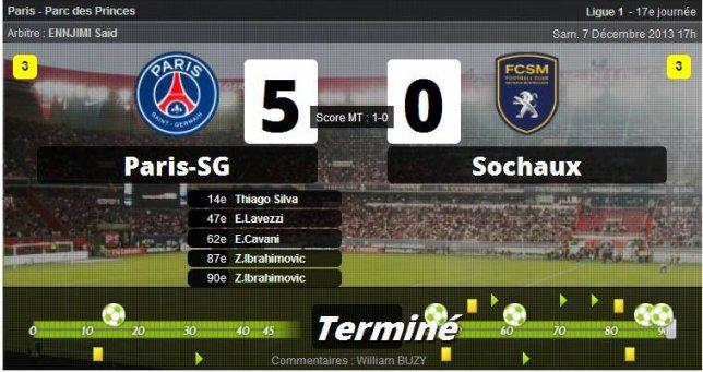• Paris démonte Sochaux !