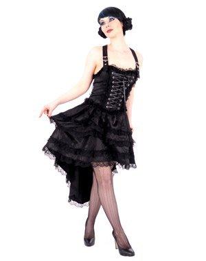 robe courte en brocart