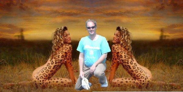 Trophé de chasse : Des jumelles africaine