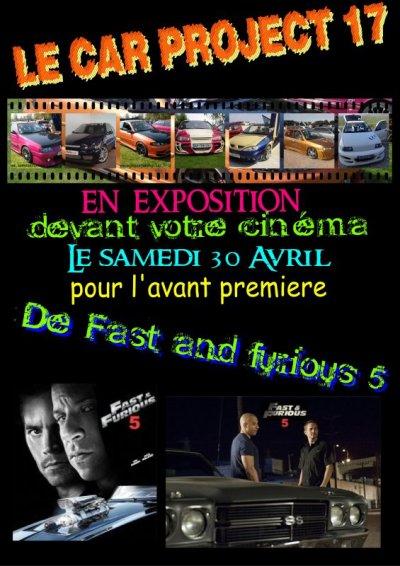 Expo pour l'avant première de Fast and Furious 5