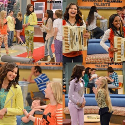 -Decouvre des nouvelles photos : scan de magazines, des photos dans l'episode de section genius et d'un episone de Shake it Up de