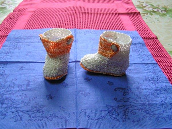 *s*s*s*s*.....bottes crochetées en coton.....*s*s*s*s*