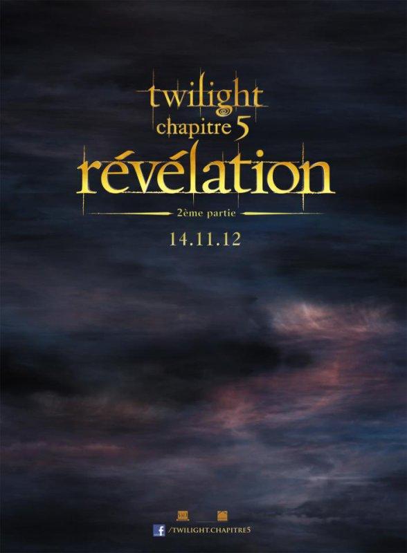 Affiche Teaser de Twilight - Chapitre 5 : Révélation partie 2