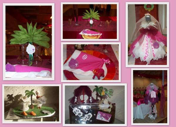 pélé méle de divers décoration de table pour un mariage!