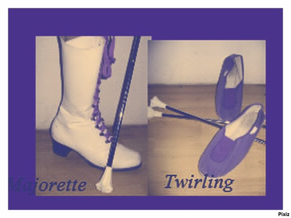 majorettes twirling