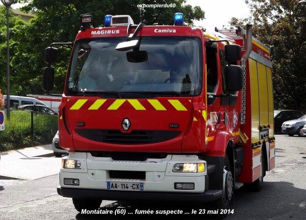 MONTATAIRE (60) ... FUMEE SUSPECTE ... LE 23 MAI 2014