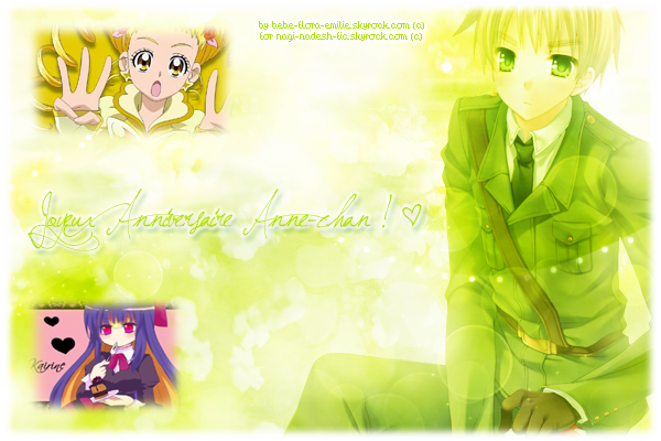 .::. ♡ Joyeux Anniversaire Anne-chan ! ♡ .::.